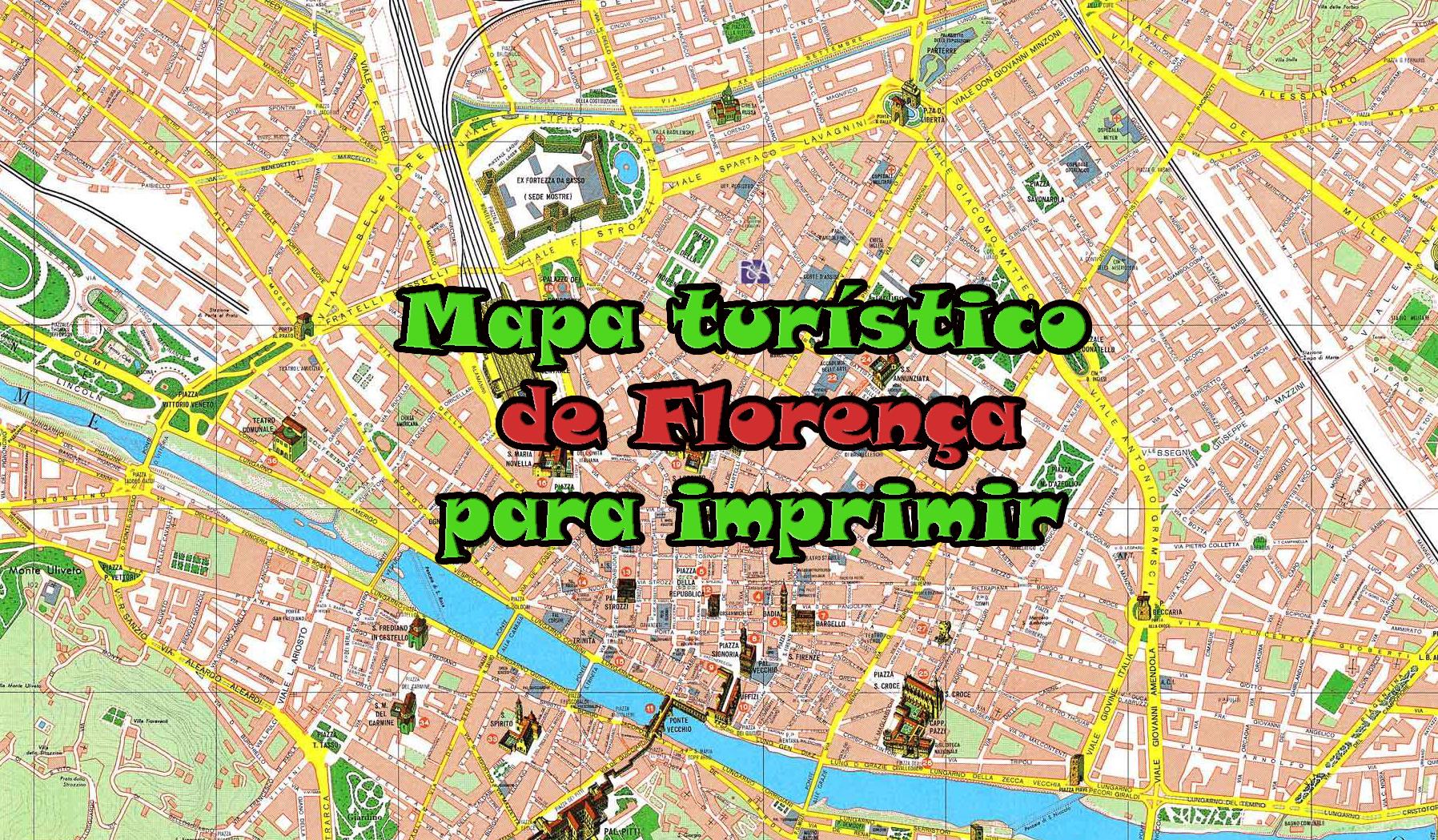 Mapa Turistico De Florenca Para Imprimir Viajar Italia